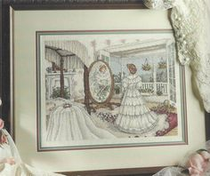 For sale a pretty unique wedding victorian bride theme cross stitch pattern!! This would make a wonderful gift for the bride to be!! A nice spring project to get started on. Just click above to view my ebay items I have more embroidery and craft items thanks for looking!!