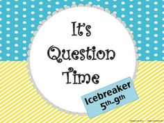 Free Download - It's Question Time Icebreaker Activity