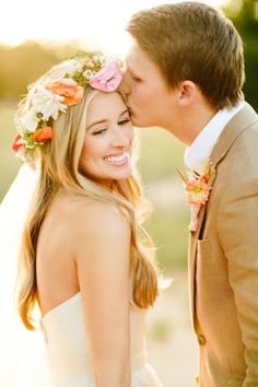 Adorable couple: http://www.stylemepretty.com/2014/10/04/rustic-wedding-with-pops-of-pink/   Photography: Haley Rynn Ringo - http://haleyringo.com/