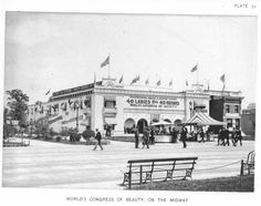 World's Congress of Beauty at the World's Columbian Exposition (also known as the Chicago World's Fair), Daniel Burnham World's Columbian Exposition, New York Buildings, Victoria House, Agricultural Buildings, German Village, Palace Of Fine Arts, World Congress, Mechanical Art