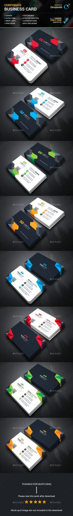 Creative Business Card Templates PSD Bundle. Download here: https://graphicriver.net/item/creative-business-card-bundle/17161554?ref=ksioks