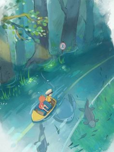 from ponyo on a cliff by the sea :)
