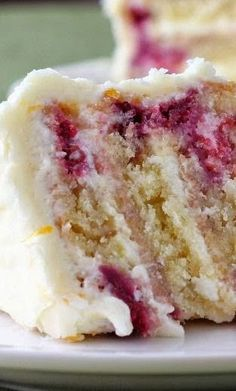 Meyer Lemon Iced Raspberry Yogurt Cake ~ I really loved the combo of the not too sweet cake with the lemon-y frosting!