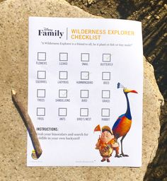 Experience the wilderness in your own backyard with this Wilderness Explorer checklist.
