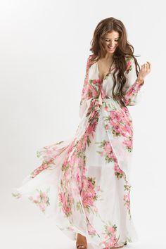 Floral Maxi Dresses for Women, Bridal Shower Dresses, Summer Wedding Dresses, Morning Lavender Boutique
