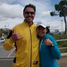 Yesterday We run 21 kms in the way for #Málaga Half #Marathon.  Do you play any sport Last #weekend? #run #Runners #running