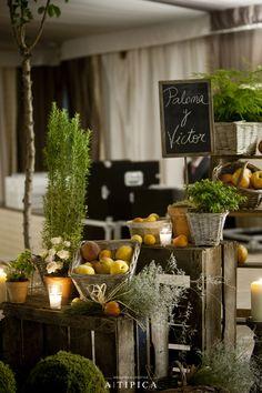 Bodegón de Frutas y plantas aromáticas @A-Tipica Wedding @Floreale