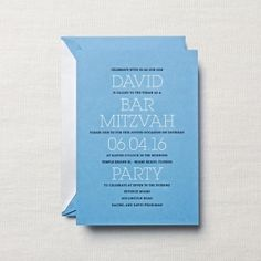 Personalized Hand Engraved Bar Mitzvah Invitation