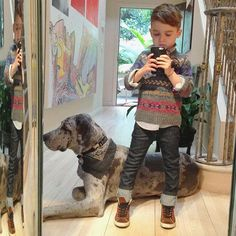 Love the cut of the jeans and the Aztec print sweater. IF only we could wear that here in RP. | The 5-Year-Old Boy Who's Become an Instagram Style Icon - The Cut