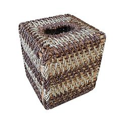 Stylishly hand-woven out of rattan and seagrass, the Sumatra Boutique Tissue Box Cover is truly a unique and gorgeous combination of natural materials. Add this special accessory to your bathroom décor for an exotic appearance.