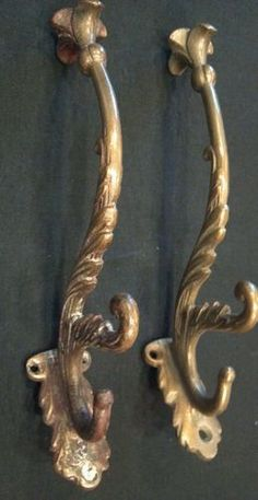 antique ornate brass coat hooks brass coat hook pieces