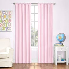 Eclipse Kids Microfiber Room Darkening Window Curtain Panel, 42 by 84-Inch, Pink *** For more information, visit image link. (This is an affiliate link) #WindowTreatments