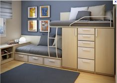 25 Cool Bed Ideas For Small Rooms There are plenty of good things about having a small bedroom. Small bedrooms are cozy and they can be easier to keep warm or cool. Checkout 25 cool bed ideas for small rooms. Bunk Bed Designs, Small Bedroom Designs, Small Room Design, Kids Room Design, Small Room Bedroom, Small Rooms, Home Design, Bedroom Ideas, Design Ideas
