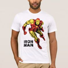 Iron Man Retro Flying T-Shirt - tap to personalize and get yours