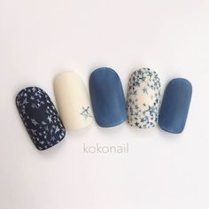 I absolutely love this mani! Cute Nail Art, Beautiful Nail Art, Star Nails, Japanese Nails, Fabulous Nails, Creative Nails, Blue Nails, Trendy Nails, Manicure And Pedicure
