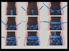Don't have a harness? No biggie! We can make one! :) Thanks ILOVECLIMBING @http://climbing.ilooove.it/