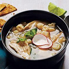 Mexican Chicken-Hominy Soup   MyRecipes.com