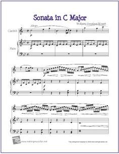 Sonata in C Major (Mozart) | Free Sheet Music for Clarinet - http://makingmusicfun.net/htm/f_printit_free_printable_sheet_music/sonata-in-c-major-clarinet.htm (Scheduled via TrafficWonker.com)