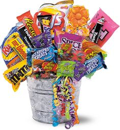 Junk Food Bucket. I want this for after my show!!!!