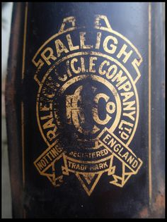 Raleigh 1912-1913 mudguard transfer