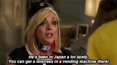 """She knows quite a bit about the world, since her husband travels so much.   Community Post: 13 Reasons Jacqueline Voorhees From """"Kimmy Schmidt"""" Is The Freaking Best"""