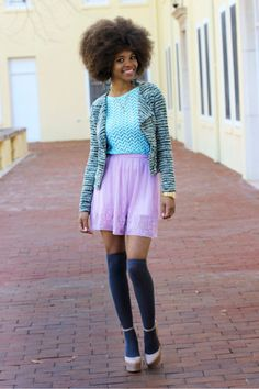 Pastels aren't just for spring. Pair candy-colored pieces with darker hues for a fall-ready look.   - Seventeen.com