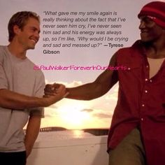 Tyrese talking about his friend  the late Paul Walker