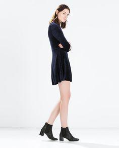ZARA - NEW THIS WEEK - SHINY VELVET DRESS