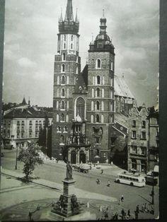 Kraków - Kościół Mariacki - 1964 r