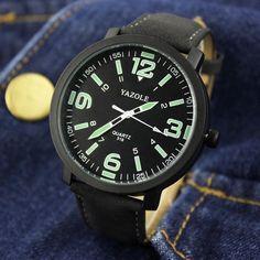 YAZOLE Luminous Watches Men Watch Top Brand Luxury Famous New 2016 Wristwatch Male Clock Quartz Wrist Watch Fashion Quartz-watch