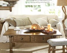 Completely Coastal Decorating Blog: Slipcovered Furniture 101 -Sofas & Chairs for Easy Coastal Style Living