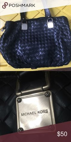 Michael Kors weave style bag Beautifully made weaved bag.  Has tiny tear on top which can easily be fixed by any shoemaker or seamstress. Michael Kors Bags Shoulder Bags