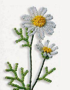 daisy beaded scheme