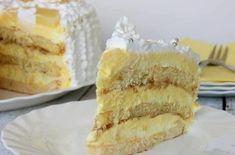 ALŽIRSKA TORTA – uživat ćete u svakom zalogaju, tako je fenomenalno! Cheesecake, Kolaci I Torte, Torte Cake, Dessert Recipes, Desserts, Custard, Cake Cookies, Vanilla Cake, Recipies