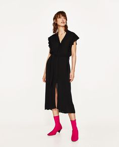 LONG TUNIC WITH RUFFLED SLEEVES-View All-DRESSES-WOMAN | ZARA United States