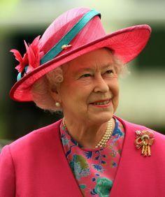 Queen Elizabeth II arrives to watch The Vodaphone Derby Race run at Epsom Racecourse on June 7, 2008, in Epsom, England.