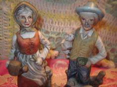 Vintage Old Man And Old Lady Figurine by Daysgonebytreasures