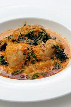 CRAB POTATO GNOCCHI & GREENS in TOMATO SAUCE (recipe sans sauce)  [Italy, Modern] [Stephen Crane] [greatbritishchefs]
