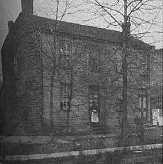 The Globe Tavern in Springfield, stood at 315 East Adams Street (Illinois State Historical Library photograph). where Robert Todd Lincoln was born  1 August 1843.  Eventually it became a rooming house, and was torn down in the Nineties.
