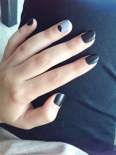 matte black with lilac. love my nails