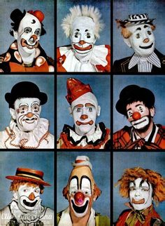 Clowns Makeup An Artistic Expression Click Americana - Clowns Their Makeup Is An Artistic Expression Of Their Own Special Traits When A Tent Full Of Circus Lovers Erupts With Laughter At The Sight Of A Ruby Nosed Clown Nobody There Would Think To Descr # Gruseliger Clown, Scary Clown Makeup, Cute Clown, Clown Faces, Circus Clown, Scary Clowns, Circus Theme, Circus Art, Evil Clowns