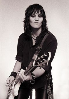 Joan Jett, one of the most recognized female classic rock singers. basically a badass