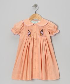 Take a look at this Orange Witch Button-Up Dress - Toddler & Girls by Sage & Lilly on #zulily today!