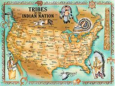 Map of Native Americans; Check out where the Cherokee were from :D
