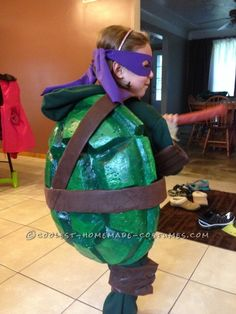 Tobys halfway homemade tmnt raphael halloween costume kaelahbee cool homemade ninja turtles costumes for two children solutioingenieria Gallery