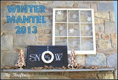 The Thriftress: Winter Mantel