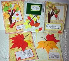 Это образцы открыток, которые я подготовила для урока в 8 классе. Основа - бумага для акварели. Оформление - обои, гофрированный и глянцевый картон, офисная бумага, тонировочные подушечки. Надписи от Марины Абрамовой. фото 1