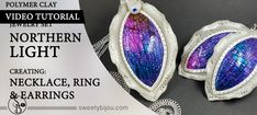 Video Tutorial Vol.13: Creating «Northern Light Jewelry Set» – Necklace, Earrings & Ring – using Crackle Surface