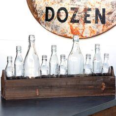boxed bottles centerpiece