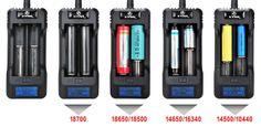 Xtar VP1 Li-Ion akkumulátor töltő, több fajta akkumulátor töltésére alkalmas.
